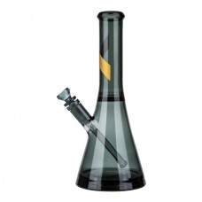 Marley Natural Smoked Glass Water Pipe with Gold S...